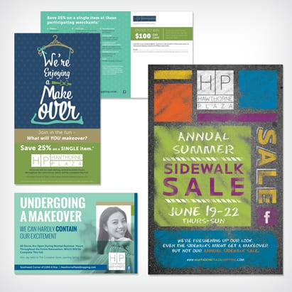 direct marketing examples shown as outdoor banners