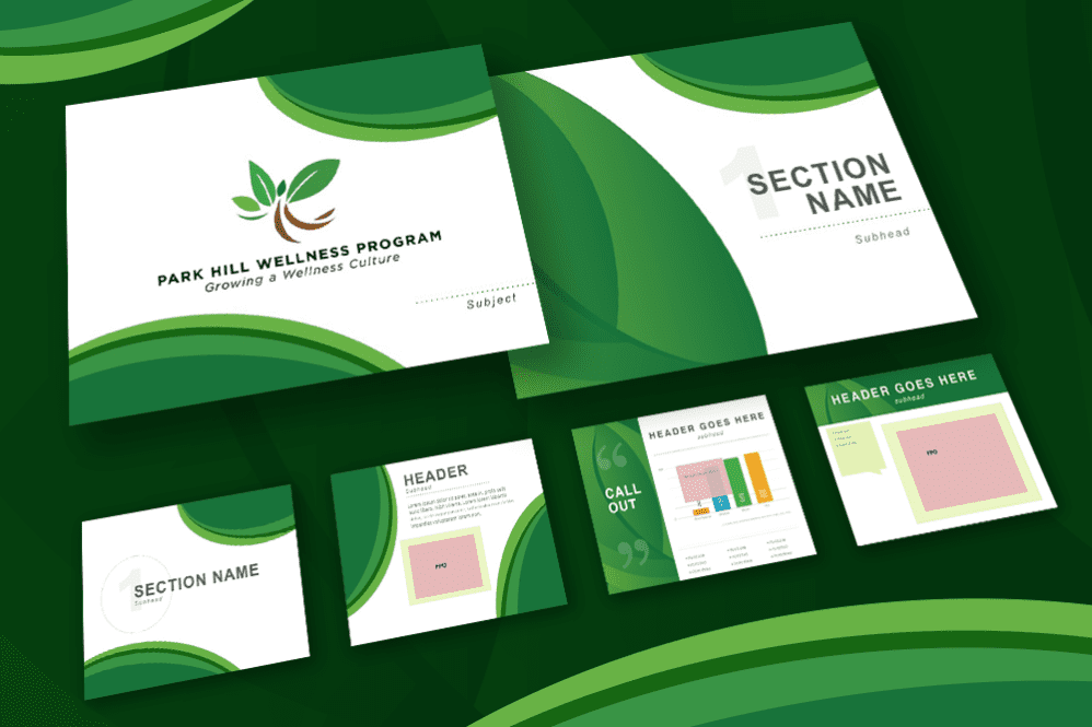 Powerpoint template for Park Hill Wellness Program